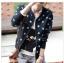 (Pre Order) เสื้อแจ็คเก็ตสั้นสบาย ๆ ซิปแขนเต็มรูปแบบ ลายดาวน่ารักมาก มี 2 สี ดำ,เทา ไซส์ M,L,XL thumbnail 1