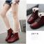 (Pre Order) ฤดูใบไม้ร่วงและฤดูหนาวสไตล์อังกฤษรองเท้าผู้หญิงรองเท้าส้นแบนหญิงใส่ลุยหิมะได้พื้นรองเท้าหนา มี 3 สี ขาว,แดง,ดำ ไซส์ 35,36,37,38,39,40 thumbnail 22