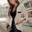 (Pre Order) คอวีเสื้อแจ๊กเก็ตสูทสุภาพสตรี เสื้อในฤดูใบไม้ร่วง / ฤดูใบไม้ผลิลำลองเสื้อแจ็คเก็ตหญิง มี 2 สี ดำ,ขาว ไซส์ S,M,XL thumbnail 1