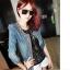 (Pre Order) เสื้อยีนส์แขนยาว แบบเก๋มาก Rhinestone ซิปพังก์หญิงเสื้อแจ็คเก็ตผู้หญิง มีสีเดียว ไซส์ S,M,L thumbnail 6