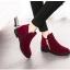 (Pre Order) แฟชั่นใหม่ผู้หญิงบู๊ทส์ที่มีคุณภาพสูง ยุโรปสุภาพสตรีหนัง PU มี 2 สี แดง,ดำ ไซส์ 35,36,37,38,39 thumbnail 6