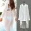 (Pre Order) เสื้อคุมขนาดสินค้า -มีขนาดเดียว วัสดุ: ชีฟอง / ลูกไม้ สี: สีขาว thumbnail 2