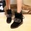 (Pre Order) รองเท้าบูทฤดูหนาวสั้นบุข้นหนา Botas ขนสัตว์อบอุ่นหิมะรองเท้าที่มีคุณภาพดี มี 2 สี แดง,ดำ ไซส์ 36,37,38,39,40 thumbnail 2