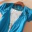 (Pre Order) เสื้อคุมเกาหลีแขนสั้นเนื้อผ้าฝ้าย มี 7 สี ชมพู,ดำ,เหลือง,ฟ้า,ขาว,ส้ม ขนาด - Free Size thumbnail 4