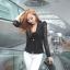 (Pre Order) มาใหม่ล่าสุดเสื้อผู้หญิงแขนยาวเสื้อสูทเซ็กซี่ลูกไม้โครเชต์แจ็คเก็ตขนาดเล็ก Tops สำนักงานสวมใส่สบาย มี 2 สี ดำ,ขาว ไซส์ M,L,XL thumbnail 5