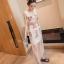 (Pre Order) ชุดลำลอง Vestidos ยาว สุภาพสตรีแฟชั่นฤดูร้อนแขนกุด Maxi Dress พิมพ์ลายน่ารักมาก สินคัามีสีเดียว ขนาดสินค้า -M,L,XL,XXL thumbnail 3