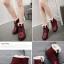 (Pre Order) ฤดูใบไม้ร่วงและฤดูหนาวสไตล์อังกฤษรองเท้าผู้หญิงรองเท้าส้นแบนหญิงใส่ลุยหิมะได้พื้นรองเท้าหนา มี 3 สี ขาว,แดง,ดำ ไซส์ 35,36,37,38,39,40 thumbnail 7
