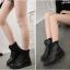 (Pre Order) ฤดูใบไม้ร่วงและฤดูหนาวสไตล์อังกฤษรองเท้าผู้หญิงรองเท้าส้นแบนหญิงใส่ลุยหิมะได้พื้นรองเท้าหนา มี 3 สี ขาว,แดง,ดำ ไซส์ 35,36,37,38,39,40 thumbnail 4