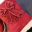 (Pre Order) รองเท้าบูทกันหนาวผู้หญิงบุขนด้านใน ตกแต่งด้วยโบว์น่ารักมาก มี 3 สี ดำ,แดง,เทา,ไซส์ 35,36,37,38,39 thumbnail 4