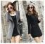 (Pre Order) เสื้อคุมผู้หญิงมาใหม่ซิปหน้าแฟชั่นผสมขนสัตว์เสื้อยาว มี 2 สี ดำ,เทา ไซส์ S,M,L,XL,XXL thumbnail 1