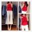 (Pre Order) ชุดเซ็ทขนาดของสินค้า - S,M ความยาว เสื้อผ้า 45cm หน้าอก88cm กางเกง (S, M): S เอว 68cm ,M เอว 70cm thumbnail 1
