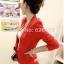 (Pre Order) ผู้หญิงเลดี้แฟชั่นปกโลหะเสื้อแจ็คเก็ตสูทมี 5 สีฟ้า,สีขาว,สีเหลือง,สีแดง,สีดำ,ไซส์ S,M thumbnail 2