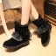 (Pre Order) รองเท้าบูทฤดูหนาวสั้นบุข้นหนา Botas ขนสัตว์อบอุ่นหิมะรองเท้าที่มีคุณภาพดี มี 2 สี แดง,ดำ ไซส์ 36,37,38,39,40 thumbnail 8