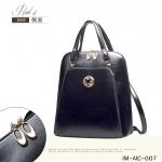 กระเป๋าเป้มิกกี้สีดำ หนังPUอย่างดี ประดับแะไหล่ทองมิกกี้ กันน้ำและรอยขีดข่วน แบรนด์AICHAONIAO ของแท้100%
