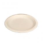 Gracz เกรซ - จานกลมมีขอบไบโอชานอ้อย - P013 - ขนาด 9 นิ้ว แพ็ค 50 ใบ