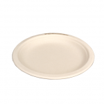 Gracz เกรซ - จานกลมมีขอบไบโอชานอ้อย - P011 - ขนาด 7 นิ้ว แพ็ค 10 ใบ