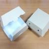 กล่องแฮมเบอร์เกอร์ กล่องอาหาร ลายคราฟท์ Size L 10.0x10.5x7.5ซม. ราคา 210 บาท(50ใบ)