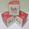 กล่องเค้กโรล / กล่องคัพเค้ก 1 ชิ้น / กล่องขนม / กล่องเค้ก 1 ชิ้น / ลายน้ำตาล ชมพู กว้าง 9.0 x ยาว 9.0 x สูง 9.0 ซม.