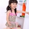 ชุดว่ายน้ำเด็กผู้หญิง วันพีช ลายเสือ ชมพู พร้อมหมวก