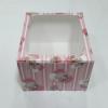 กล่องเค้ก กล่องเค้ก 2 ปอนด์ ทรงสูงพิเศษ กล่องเค้กฟองดอง กล่องขนม กล่องเบเกอรี่ กล่องคัพเค้ก ลายแบร์แฟมิลี่ 24.5x24.5x15ซม.10ใบ/แพ็ค