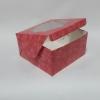 กล่องสแน็ค กล่องอาหารว่าง ลายดอกไม้ ขนาด 12.8 x 12.8 x 7.0 ซม.