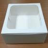 กล่องเค้ก กล่องเค้ก 2 ปอนด์ กล่องขนม กล่องเบเกอรี่ กล่องคัพเค้ก สีขาว 24.5x24.5x10ซม. 20ใบ/แพ็ค