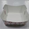 ถาดใส่ขนม/ถาดขนมปัง/ถาดชิม/ถาดอาหาร ลายดาวแดง กว้าง 10.5 x ยาว 9.2 x สูง 4.2 ซม.