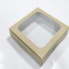 กล่องบราวนี่ กล่องชิฟฟ่อน กล่องเค้กครึ่งปอนด์ กล่องทาร์ตไข่ กล่องขนมเปี๊ยะ กล่องพาย กล่องช็อกโกแลต ลายคราฟท์ กว้าง 20.0 x ยาว 20.0 x สูง 5.0 ซม.