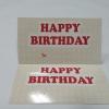 ป้ายอวยพร Happy Birthday ลายแดงครีม ป้ายของวัญ ป้ายห้อยสินค้า