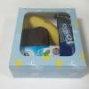 กล่องสแน็ค กล่องอาหารว่าง ลายสีฟ้าเหลือง