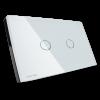 GRATIA switch Standard 2 x 4 สีขาว 2 ปุ่ม ใช้งานผ่านรีโมท