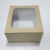 กล่องเค้ก กล่องเค้ก 1 ปอนด์ กล่องขนม กล่องเบเกอรี่ กล่องคัพเค้ก ลายคราฟท์ขาวหลังน้ำตาล 20.5x20.5x10ซม. 20ใบ/แพ็ค