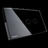 GRATIA switch Standard 2 x 4 สีดำ 3 ปุ่ม ใช้งานผ่านรีโมท