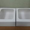กล่องบราวนี่ กล่องชิฟฟ่อน กล่องช๊อกโกแลต กล่องพาย กล่องขนมเปี๊ยะ สีขาว กว้าง15.0 x ยาว 15.0 x สูง 5.0 ซม.