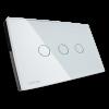 GRATIA switch Standard 2 x 4 สีขาว 3 ปุ่ม ใช้งานผ่านรีโมท