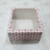 กล่องเค้ก กล่องเค้ก 2 ปอนด์ กล่องขนม กล่องเบเกอรี่ กล่องคัพเค้ก ลายดาวแดง 24.5x24.5x10ซม. 20ใบ/แพ็ค