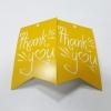 ป้ายขอบคุณ Thank You ลายเหลืองขาว ป้ายของวัญ ป้ายห้อยสินค้า