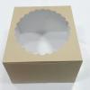 กล่องเค้ก กล่องเค้ก 3 ปอนด์ กล่องเค้กฟองดอง ทรงสูงพิเศษ กล่องขนม กล่องเบเกอรี่ กล่องคัพเค้ก ลายคราฟท์หน้าขาวหลังน้ำตาล 26.5x26.5x15ซม.10ใบ/แพ็ค