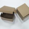 กล่องสแน็ค กล่องอาหารว่าง ลายคราฟท์หน้าน้ำตาลหลังน้ำตาล กว้าง12.7 x ยาว12.7 x สูง 6.5 ซม.