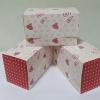 กล่องเค้กโรล / กล่องคัพเค้ก 2 ชิ้น / กล่องเค้ก 2 ชิ้น / กล่องขนม ลายน้ำตาล ชมพู กว้าง 16.8 x ยาว 9.0 x สูง 9.0 ซม.