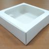 กล่องบราวนี่ กล่องชิฟฟ่อน กล่องเค้กครึ่งปอนด์ กล่องพาย กล่องทาร์ตไข่ กล่องขนมเปี๊ยะ สีขาว กว้าง 20.0 x ยาว 20.0 x สูง 5.0 ซม.