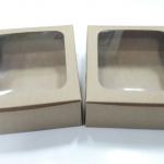 กล่องบราวนี่ กล่องชิฟฟ่อน กล่องช๊อกโกแลต กล่องพาย กล่องขนมเปี๊ยะ ลายคราฟท์น้ำตาล กว้าง15.0 x ยาว 15.0 x สูง 5.0 ซม.