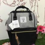 กระเป๋าเป้สีเทาดำ แบรนด์ดังสุดฮิตที่กำลังดังในประเทศญี่ปุ่น วัสดุผ้าแคนวาส ปากกระเป๋ากว้างมีโครงง่ายสำหรับเวลาใส่สัมภาระ