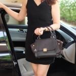 กระเป๋าสะพายข้างสีดำ KEEP mini office handbag ทรงสวย ทันสมัย หนังแกะสังเคราะห์ เนื้อดีมาก