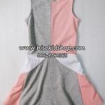 1101 H&M Dress - Coral/Grey ขนาด 4-6 ปี