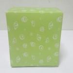กล่องสแน็ค กล่องอาหารว่าง ลายเบเกอรี่ (100ใบ/แพ็ค) กว้าง12.7 x ยาว12.7 x สูง 6.5 ซม.