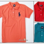1143 Polo Ralph Lauren เสื้อโปโลเนื้อดี มี 2 สีค่ะ (แดง/เขียว) ขนาด 10 ปี