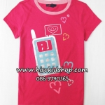 1035 Gap Kids Graphic Tee - Rose ขนาด S(6-7),M(8) ปี
