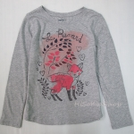 1256 Gap Kids Long Sleeve - Grey ขนาด 6-7 ปี