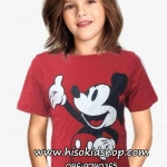 1125 H&M Micky Mouse T-shirt - Red ขนาด 12-14 ปี
